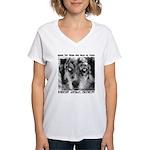 Report Animal Cruelty Dog Women's V-Neck T-Shirt