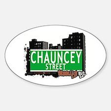 CHAUNCEY STREET, BROOKLYN, NYC Oval Decal