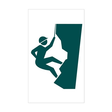 Rock Climbing Rectangle Sticker