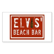 Elvis' Btl Logo Rectangle Decal
