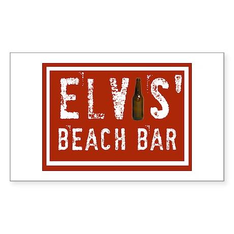 Elvis' Btl Logo Rectangle Sticker