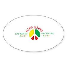 Elvis' Mama Wanna Logo Oval Decal