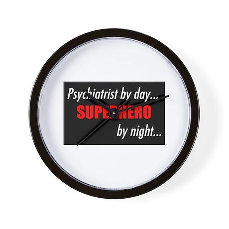 Superhero Psychiatrist Wall Clock