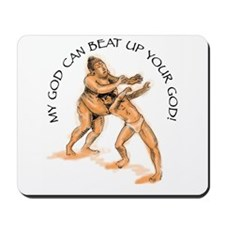 Buddha vs Jesus Mousepad