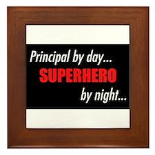 Superhero Principal Framed Tile