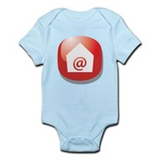 E Mail Addict Button Infant Bodysuit