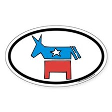 Democratic Party Donkey Oval Decal