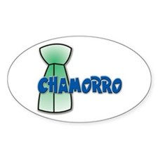 Chamorro Oval Decal