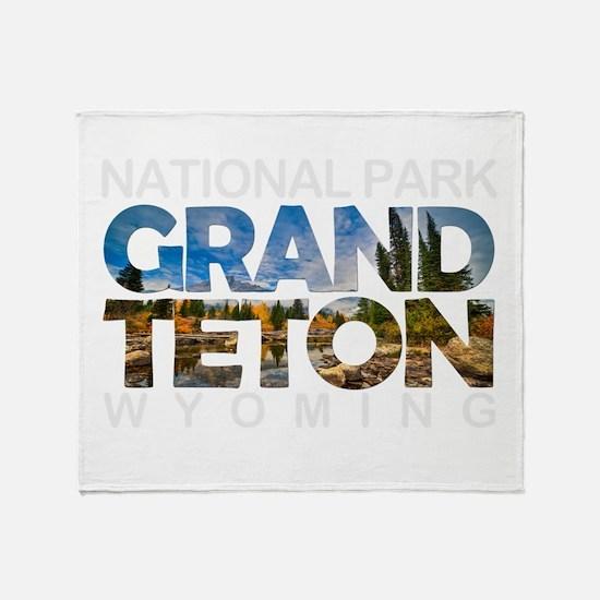 Grand Teton - Wyoming Throw Blanket