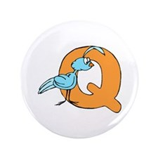 "Q is for Quail 3.5"" Button (100 pack)"