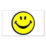 Happy Face Rectangle Sticker 50 pk)