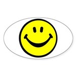 Happy Face Oval Sticker (10 pk)