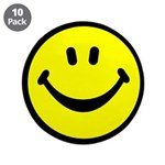 "Happy Face 3.5"" Button (10 pack)"