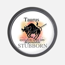 Taurus the Bull Wall Clock