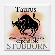 Taurus the Bull Tile Coaster