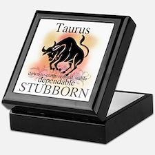 Taurus the Bull Keepsake Box