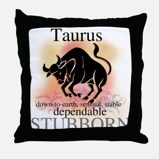 Taurus the Bull Throw Pillow