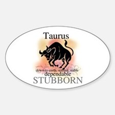 Taurus the Bull Oval Decal