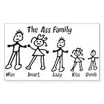 Ass Family Rectangle Sticker 10 pk)