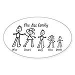 Ass Family Oval Sticker (50 pk)