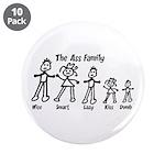 """Ass Family 3.5"""" Button (10 pack)"""
