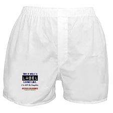 Label 1 Autism (Daughter) Boxer Shorts
