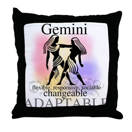 Gemini the Twins Throw Pillow