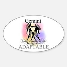 Gemini the Twins Oval Bumper Stickers