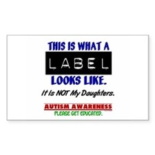Label 1 Autism (Daughters) Rectangle Decal