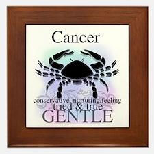 Cancer the Crab Framed Tile
