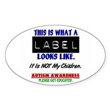 Label 1 Autism (Children) Oval Decal