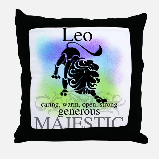 Leo the Lion Zodiac Throw Pillow