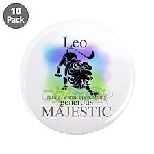 """Leo the Lion Zodiac 3.5"""" Button (10 pack)"""