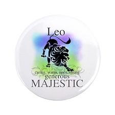 "Leo the Lion Zodiac 3.5"" Button"