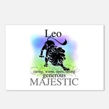 Leo the Lion Zodiac Postcards (Package of 8)
