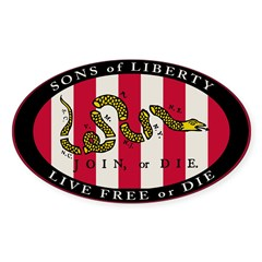 Sons of Liberty Oval Sticker (10 pk)