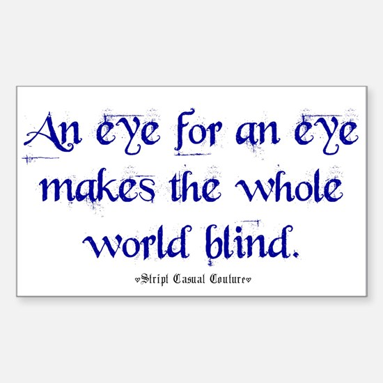 Eye for an Eye Rectangle Decal
