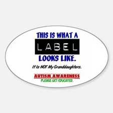 Label 1 Autism (Granddaughters) Oval Decal