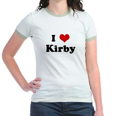 I Love Kirby Jr. Ringer T-Shirt
