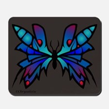 Blue Moonglow Butterfly Mousepad