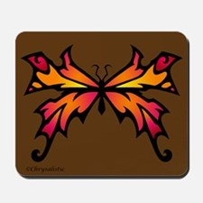 Orange Sunset Butterfly Mousepad