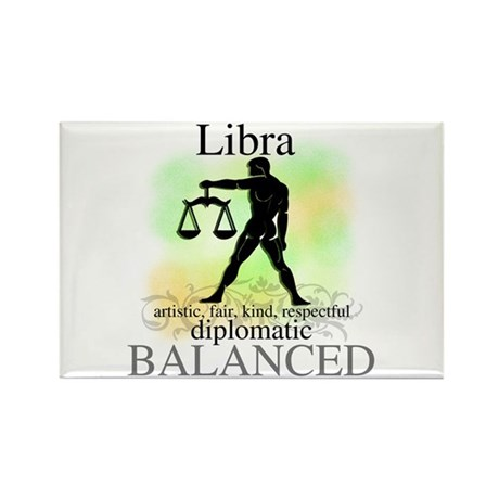 Libra the Scales Rectangle Magnet (10 pack)