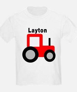 Layton - Red Tractor T-Shirt