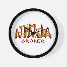 Dragon Ninja Broker Wall Clock