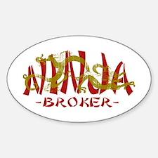 Dragon Ninja Broker Oval Decal