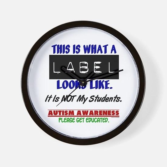 Label 1 Autism (Students) Wall Clock