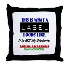 Label 1 Autism (Students) Throw Pillow