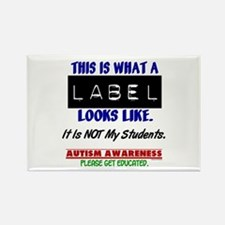 Label 1 Autism (Students) Rectangle Magnet