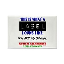 Label 1 Autism (Siblings) Rectangle Magnet