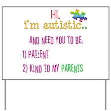 Autism Awareness Tee Yard Sign